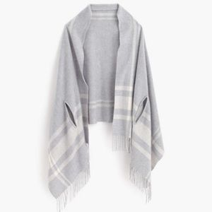 J. Crew Grey and Ivory Cape Scarf